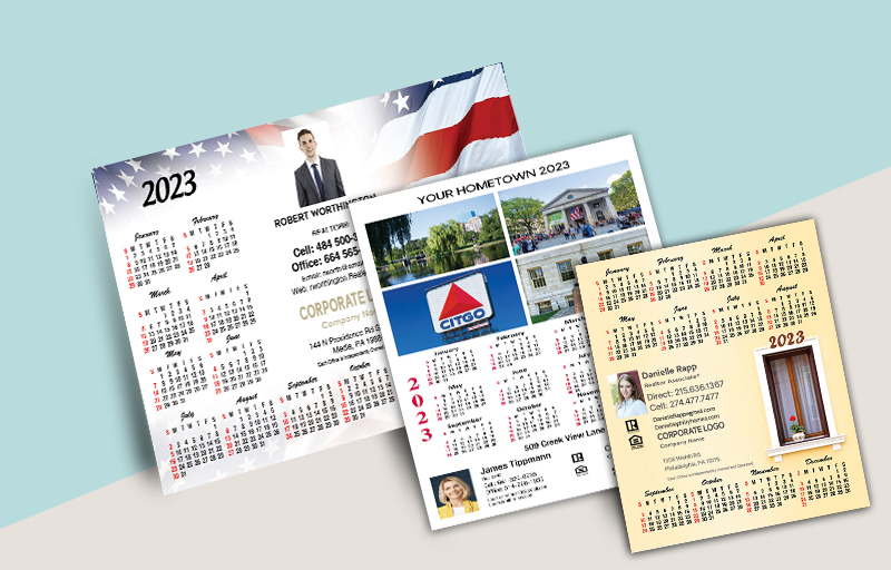 Century 21 Real Estate Full Calendar Magnets - Horizontal - 5.5
