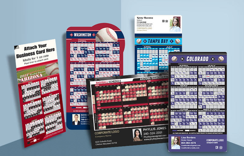 Century 21 Real Estate Full Magnet Baseball Schedules - Century 21 sports schedules | BestPrintBuy.com