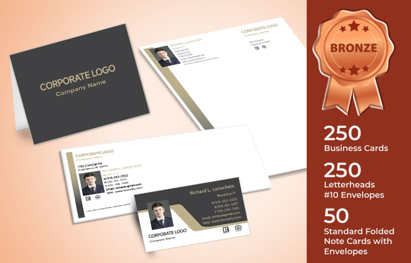 Century 21 Real Estate Agent Bronze Package -  letterhead, envelopes and note cards | BestPrintBuy.com