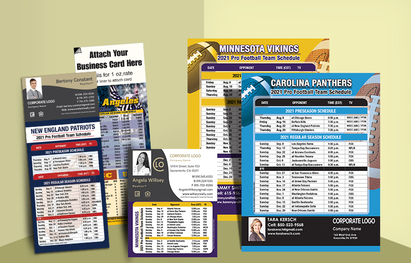 Century 21 Real Estate Full Magnet NFL Schedules - Century 21  personalized magnetic football schedules | BestPrintBuy.com