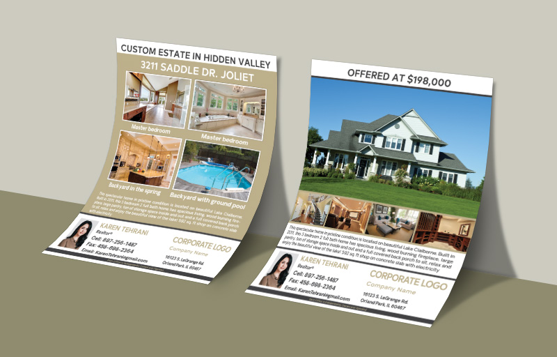 Century 21 Real Estate Flyers and Brochures - Century 21 two-sided flyer templates for open houses and marketing | BestPrintBuy.com