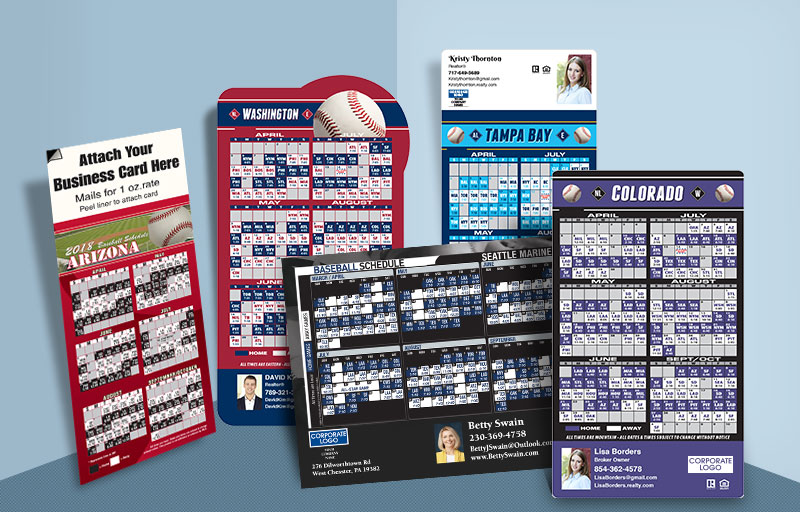Coldwell Banker Real Estate Full Magnet Baseball Schedules - Coldwell Banker sports schedules | BestPrintBuy.com