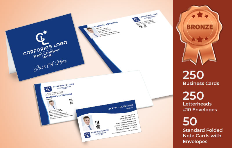 Coldwell Banker Real Estate Bronze Agent Package - Coldwell Banker personalized business cards, letterhead, envelopes and note cards | BestPrintBuy.com