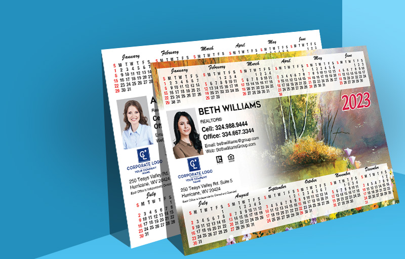"Coldwell Banker Real Estate Full Calendar Magnets 5.5"" X 4.2"" or 5.5"" X 8.5"" - Coldwell Banker 2019 calendars 
