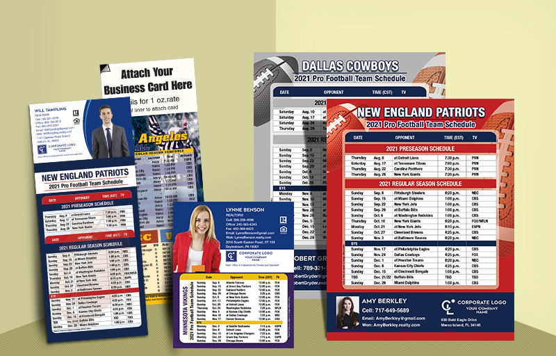 Coldwell Banker Real Estate Full Magnet NFL Schedules - Coldwell Banker  personalized magnetic football schedules | BestPrintBuy.com