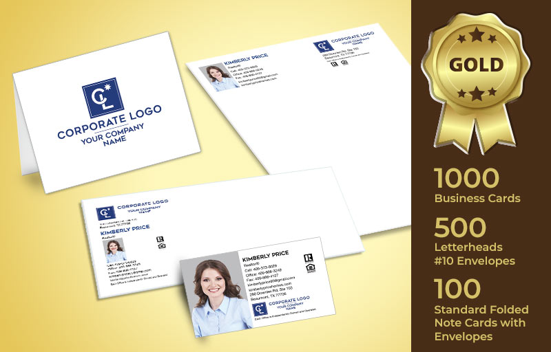 Coldwell Banker Real Estate Gold Agent Package - Coldwell Banker personalized business cards, letterhead, envelopes and note cards | BestPrintBuy.com