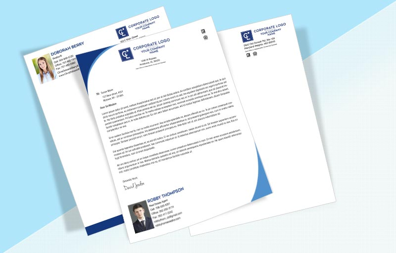 Coldwell Banker Real Estate Letterheads - Coldwell Banker Custom Letterhead Stationery for Realtors | BestPrintBuy.com