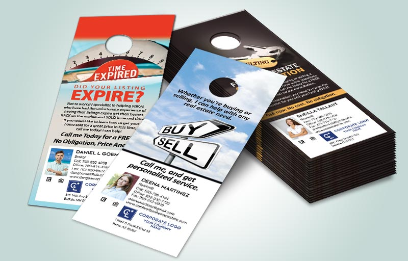 Coldwell Banker Real Estate One Sided Door Hangers - Coldwell Banker Door Knockers for Realtors | BestPrintBuy.com