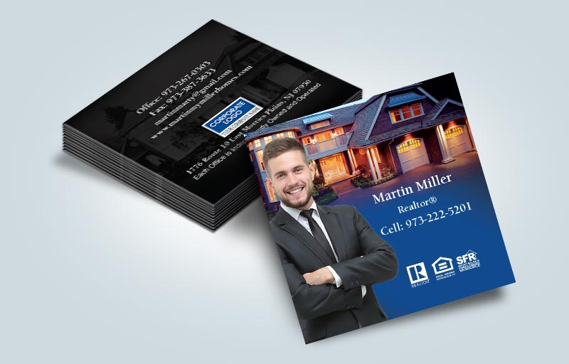 Coldwell Banker Real Estate Matching Two-Sided Square Business Cards - Coldwell Banker  - Modern, Unique Business Cards for Realtors | BestPrintBuy.com