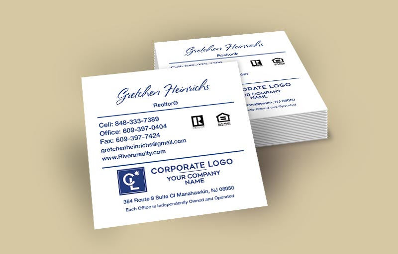 Coldwell Banker Real Estate Square Business Cards Without Photo - Coldwell Banker - Modern, Unique Business Cards for Realtors | BestPrintBuy.com