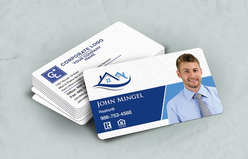 Coldwell Banker Real Estate Rounded Corner Spot UV(Gloss) Raised Business Cards - Coldwell Banker - Glossy, Embossed Business Cards for Realtors | BestPrintBuy.com