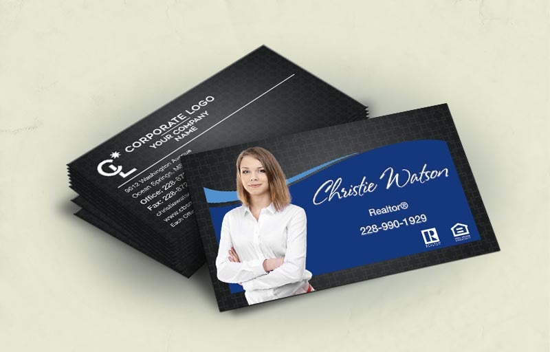 Coldwell Banker Real Estate Standard Corner Spot UV(Gloss) Raised Business Cards - Coldwell Banker - Glossy, Embossed Business Cards for Realtors | BestPrintBuy.com