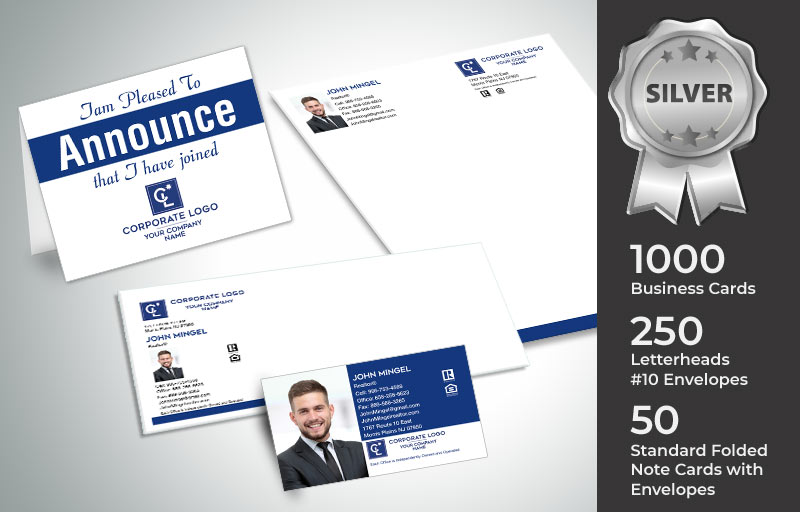 Coldwell Banker Real Estate Silver Agent Package - Coldwell Banker  personalized business cards, letterhead, envelopes and note cards | BestPrintBuy.com