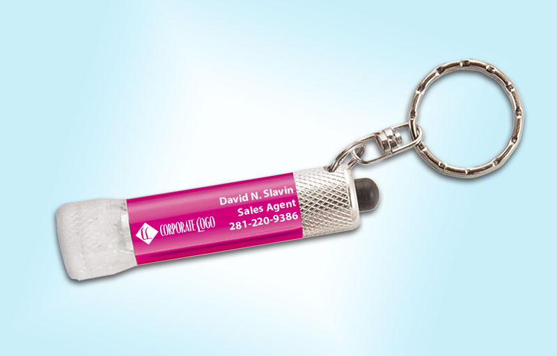 HomeSmart Real Estate Chroma Clear Flashlight - HomeSmart Real Estate personalized realtor flashlight key chain promotional products | BestPrintBuy.com