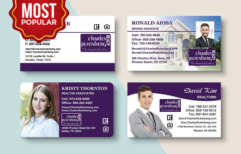 Charles Rutenberg Realty Real Estate Standard Business Cards - Charles Rutenberg Realty Standard & Rounded Corner Business Cards for Realtors | BestPrintBuy.com