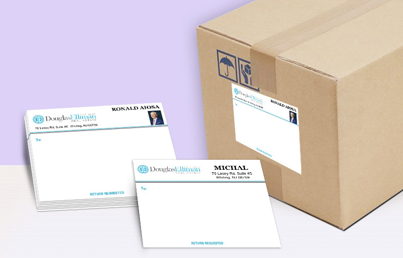 Douglas Elliman Real Estate Shipping Labels - Douglas Elliman Real Estate personalized mailing labels | BestPrintBuy.com