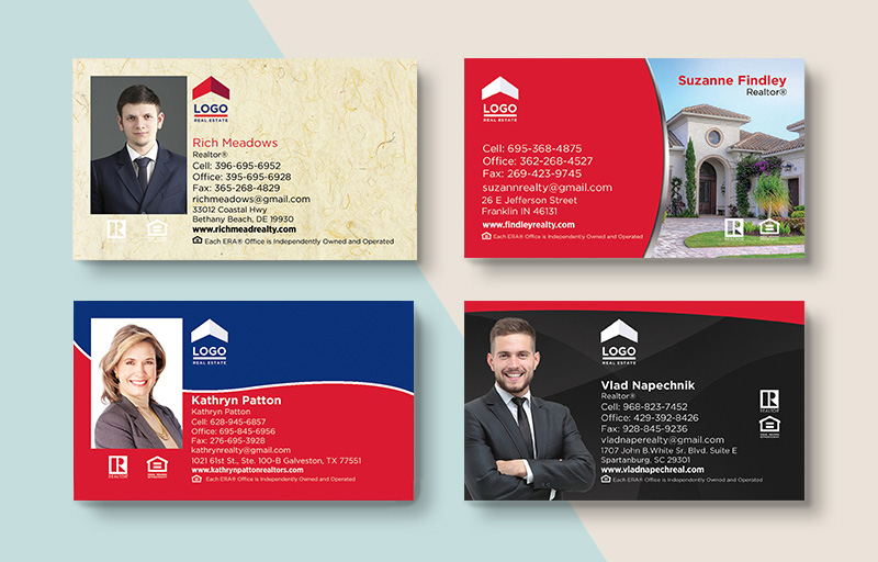ERA Real Estate Business Card Magnets - ERA Real Estate magnets with photo and contact info | BestPrintBuy.com