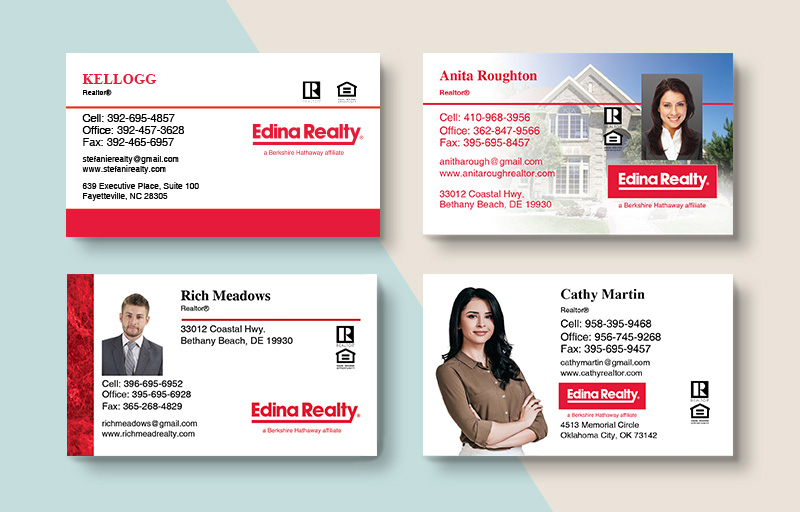 Edina Realty Business Card Magnets - Edina Realty  magnets with photo and contact info | BestPrintBuy.com