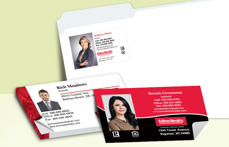 Edina Realty  Business Card Labels - Edina Realty  personalized stickers with contact info | BestPrintBuy.com