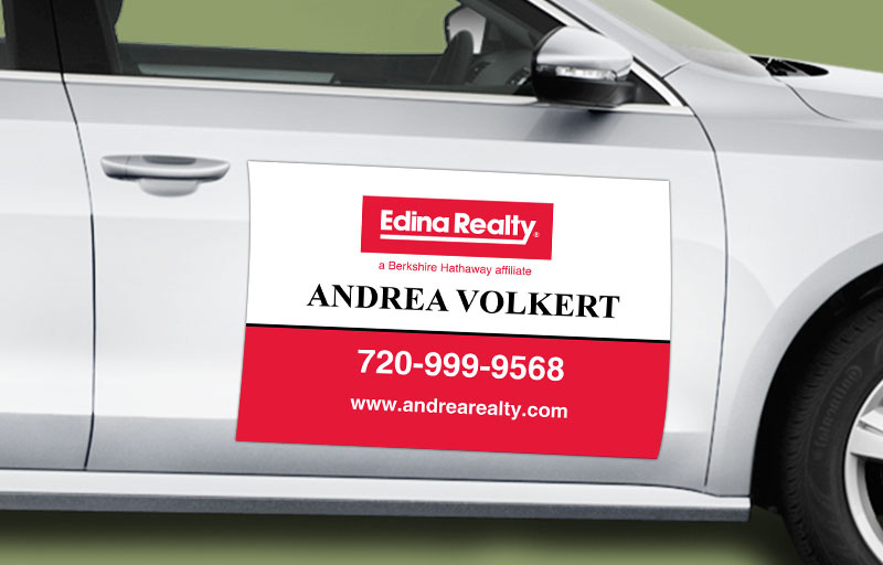 Edina Realty  12 x 18 without Photo Car Magnets - Edina Realty  custom car magnets for realtors | BestPrintBuy.com
