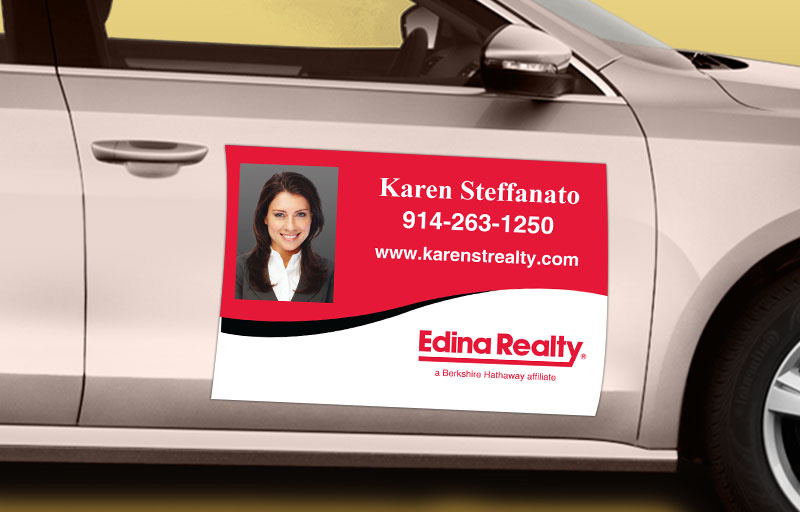 Edina Realty  12 x 18 with Photo Car Magnets - Edina Realty custom car magnets for realtors | BestPrintBuy.com