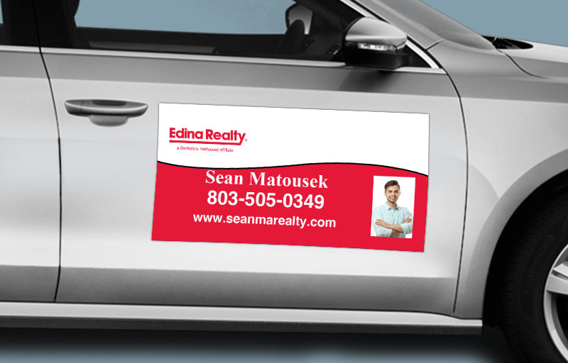 Edina Realty  12 x 24 with Photo Car Magnets - Edina Realty  custom car magnets for realtors | BestPrintBuy.com