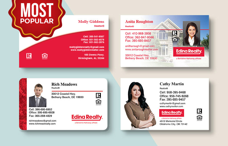 Edina Realty  Standard Business Cards - Edina Realty Standard & Rounded Corner Business Cards for Realtors | BestPrintBuy.com