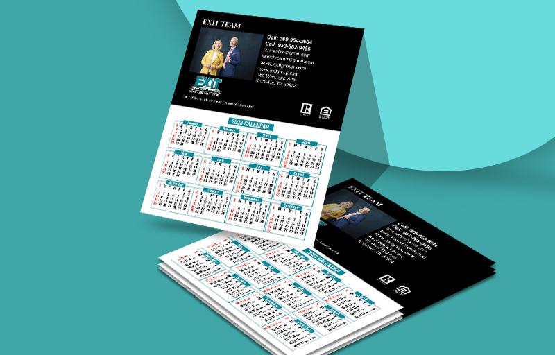 Exit Realty Mini Team Calendar Magnets - Exit Realty approved vendor personalized marketing materials | BestPrintBuy.com