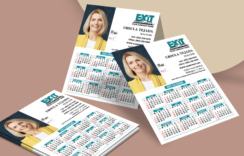 Exit Realty Business Card Mini Calendar Magnets With Photo - Exit Realty approved vendor personalized marketing materials | BestPrintBuy.com