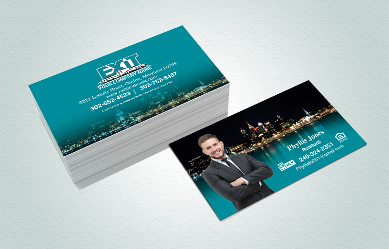 Exit Realty Matching Two-Sided Business Cards - Exit Realty Approved Vendor marketing materials | BestPrintBuy.com