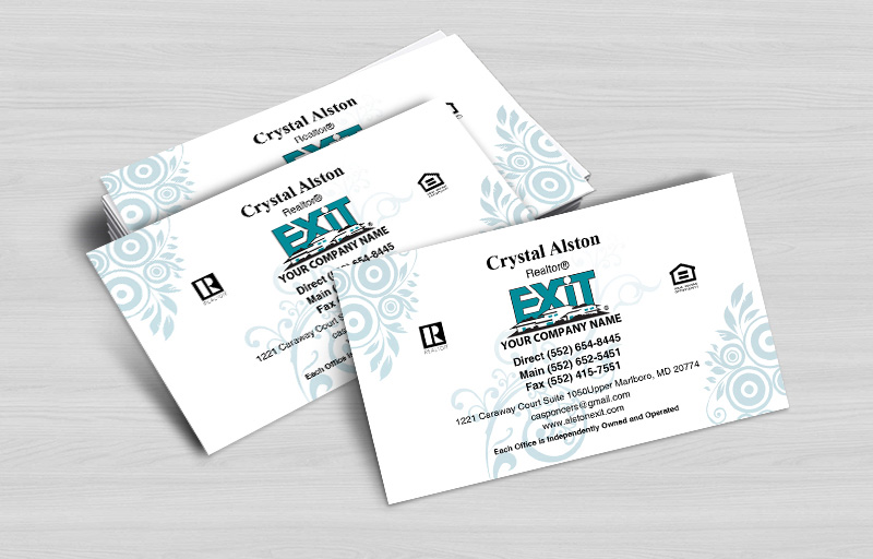 Exit Realty Business Cards Without Photo - Exit Realty Approved Vendor marketing materials | BestPrintBuy.com