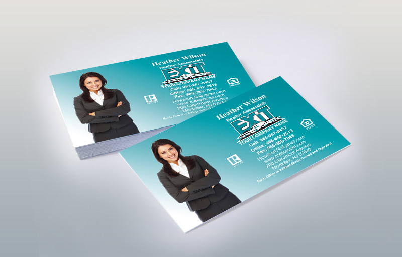 Exit Realty Silhouette Business Cards - Exit Realty Approved Vendor marketing materials | BestPrintBuy.com