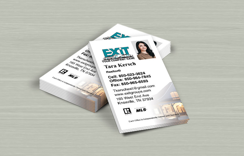 Exit Realty Vertical Business Cards - Exit Realty Approved Vendor marketing materials | BestPrintBuy.com