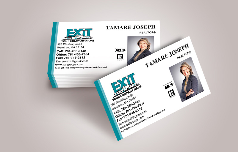 Exit Realty Business Cards With Photo - Exit Realty Approved Vendor marketing materials | BestPrintBuy.com