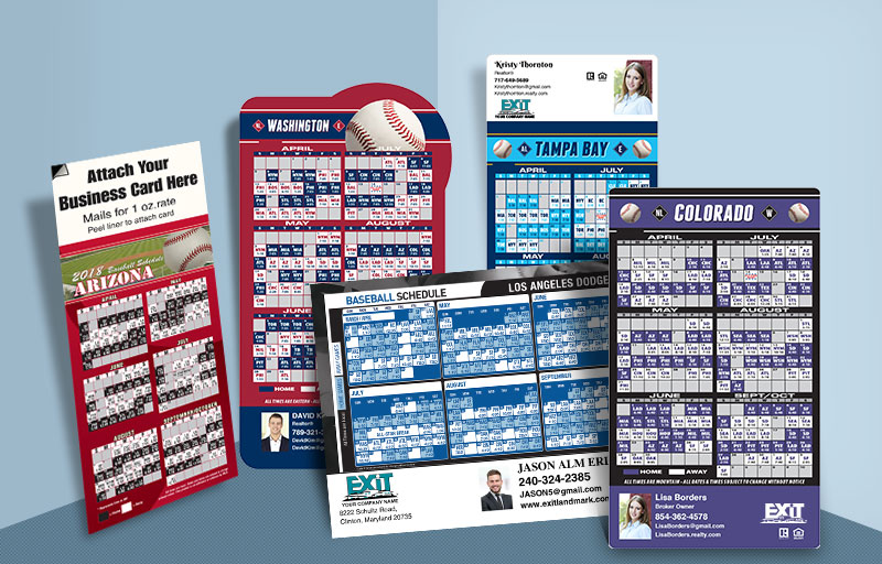 Exit Realty Real Estate 2018 Baseball Schedules - Exit Realty approved vendor custom sports schedule magnets | BestPrintBuy.com