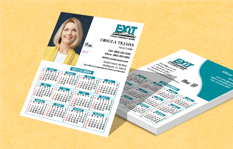 Exit Realty Real Estate Mini Business Card Calendar Magnets - Exit Realty approved vendor 2019 calendars | BestPrintBuy.com