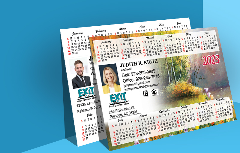 Exit Realty Real Estate Full Calendar Magnets 5.5