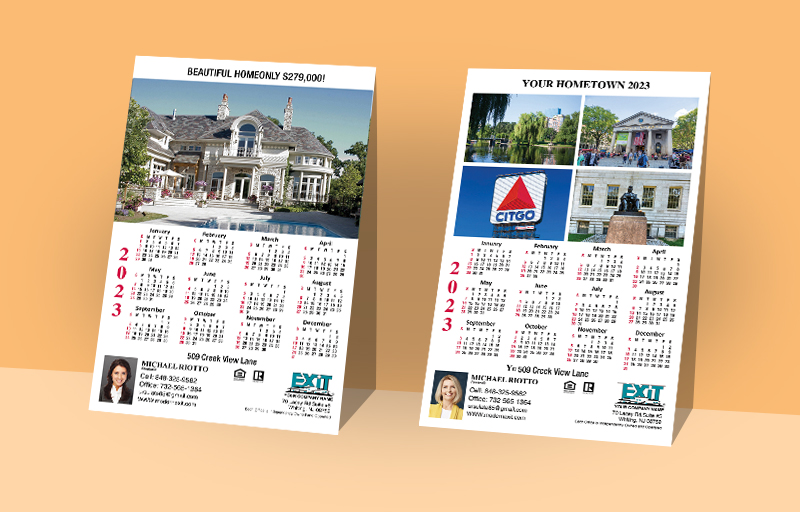 Exit Realty Real Estate Full Calendar Magnets With Photo Option - Exit Realty approved vendor 2019 calendars | BestPrintBuy.com