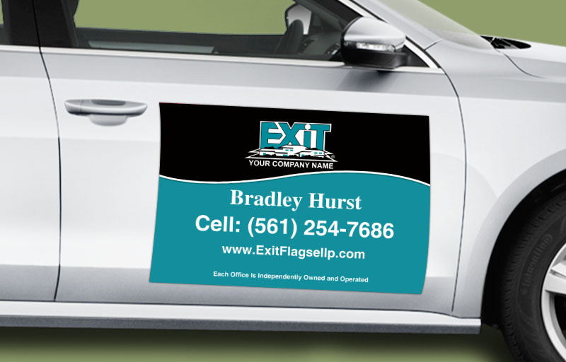 Exit Realty 12 x 18 without Photo Car Magnets - Exit approved vendor custom car magnets for realtors | BestPrintBuy.com