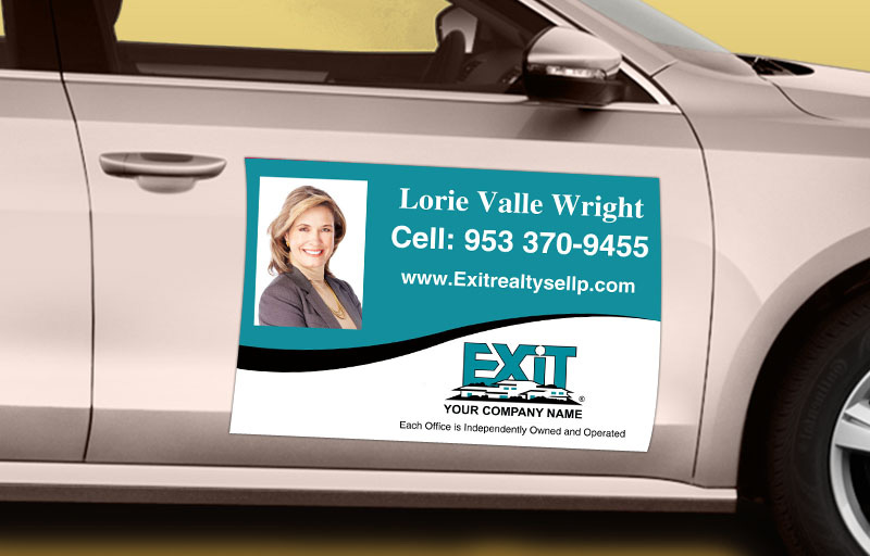 Exit Realty 12 x 18 with Photo Car Magnets - Exit approved vendor custom car magnets for realtors | BestPrintBuy.com