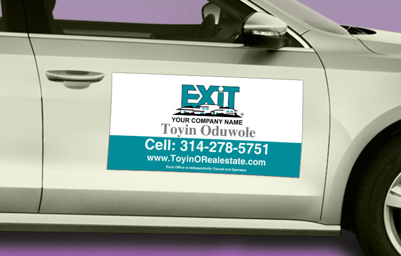 Exit Realty  12 x 24 without Photo Car Magnets - Exit approved vendor custom car magnets for realtors | BestPrintBuy.com