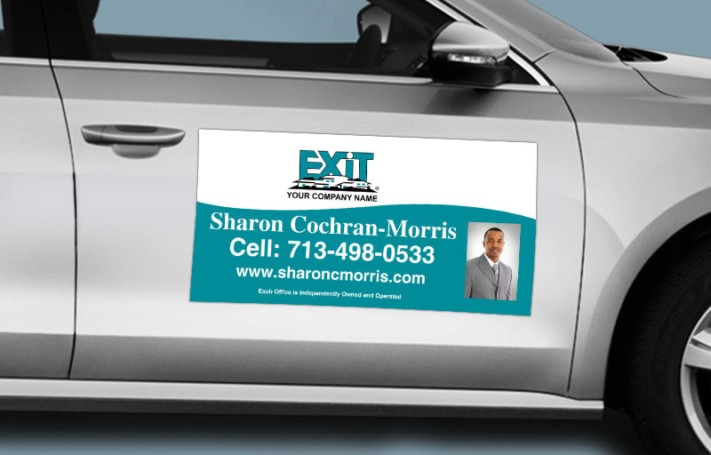 Exit Realty  12 x 24 with Photo Car Magnets - Exit approved vendor custom car magnets for realtors | BestPrintBuy.com