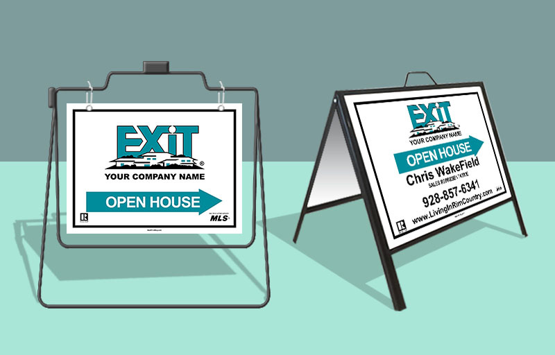 Exit Realty Open House/Directional Sign Units - Exit Realty approved vendor real estate signs | BestPrintBuy.com