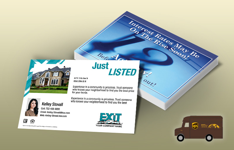Exit Realty Real Estate EDDM Postcards - Exit Realty approved vendor personalized Every Door Direct Mail Postcards | BestPrintBuy.com
