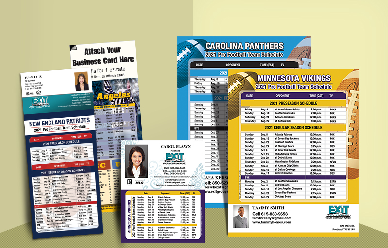 Exit Realty Real Estate 2018 Football Schedules - Exit Realty approved vendor custom sports schedule magnets | BestPrintBuy.com