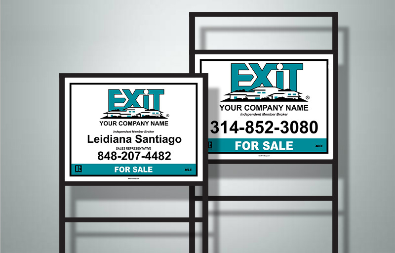 Exit Realty Complete/H-Frame Sign Units - Exit Realty approved vendor real estate signs | BestPrintBuy.com