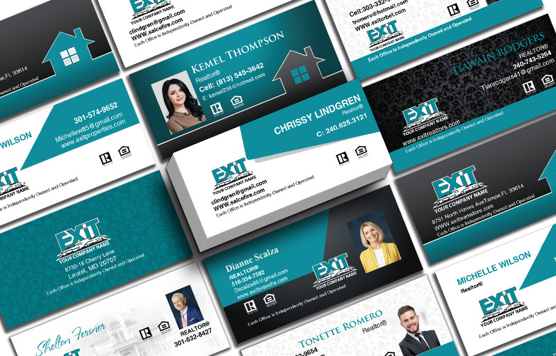 Exit Realty Real Estate Mini Business Cards - Exit Realty Approved Vendor Unique Business Cards on 16 Pt Stock for Realtors | BestPrintBuy.com