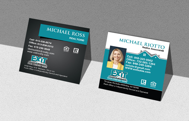 Exit Realty Real Estate Square Business Cards - Exit Realty Approved Vendor Modern Business Cards for Realtors | BestPrintBuy.com