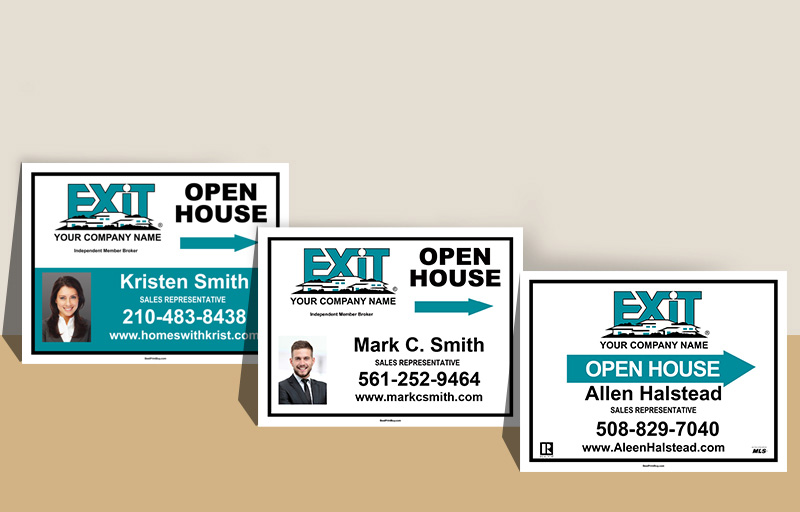 Exit Realty Sign Panels - Exit Realty approved vendor real estate signs | BestPrintBuy.com