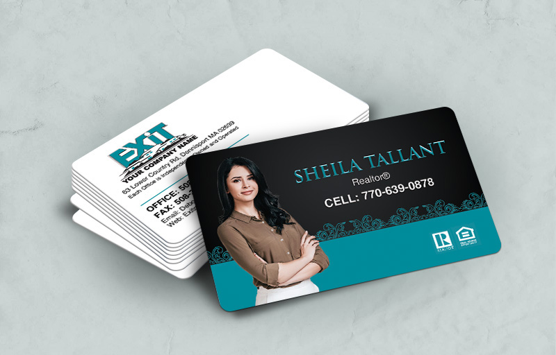 Exit Realty Rounded Corner Spot UV(Gloss) Raised Business Cards - Exit Realty Approved Vendor - Glossy, Embossed Business Cards for Realtors | BestPrintBuy.com